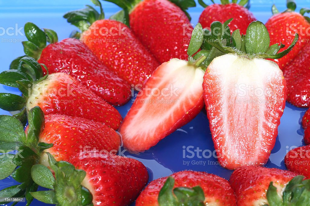 'Nice fresh strawberries' royalty-free stock photo