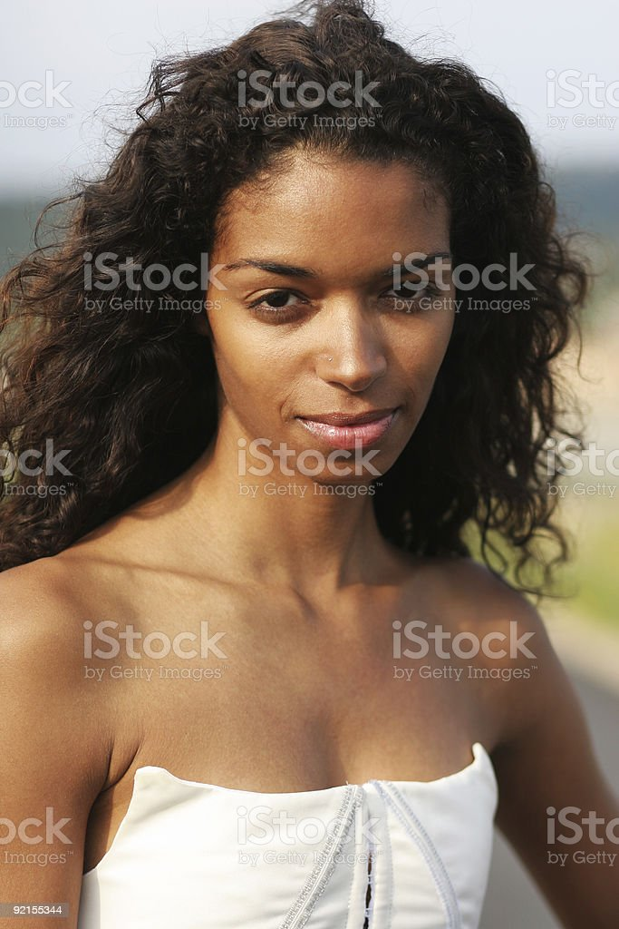 Nice girl stock photo