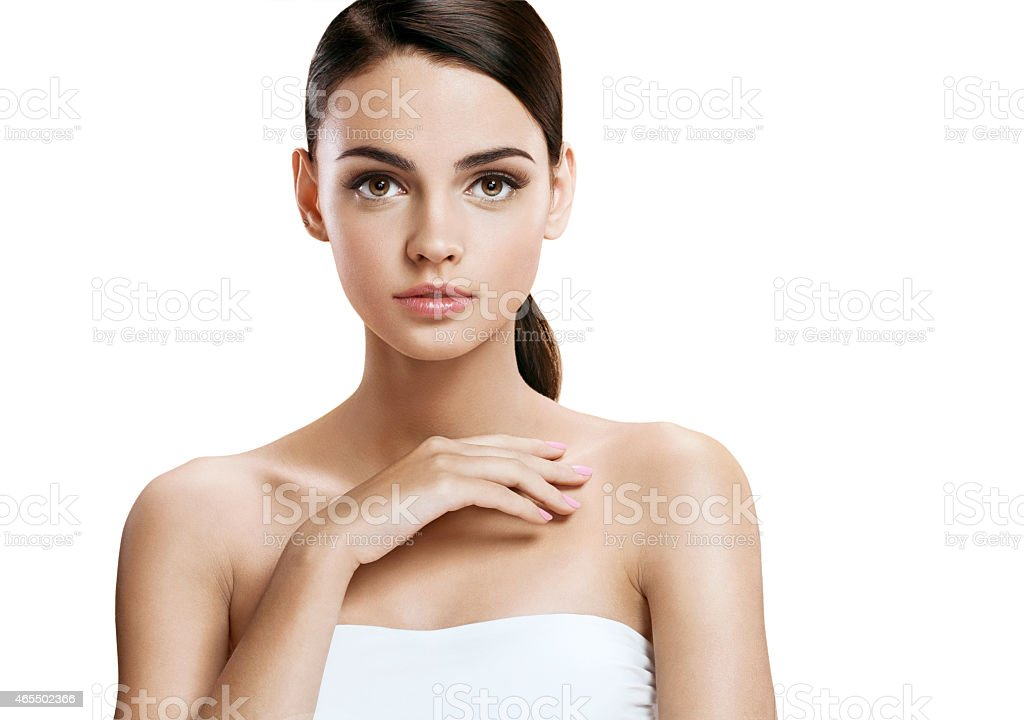 Nice girl with makeup stock photo