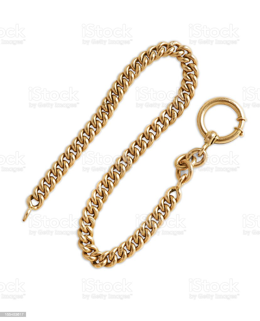 Nice gold chain isolated stock photo