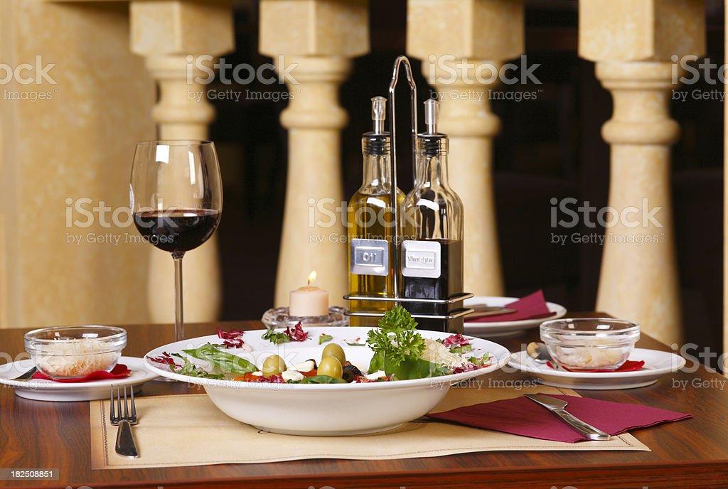 Nice Greek dinner stock photo