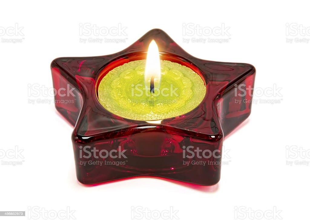 Nice green candela, all'interno di una stella rossa foto stock royalty-free