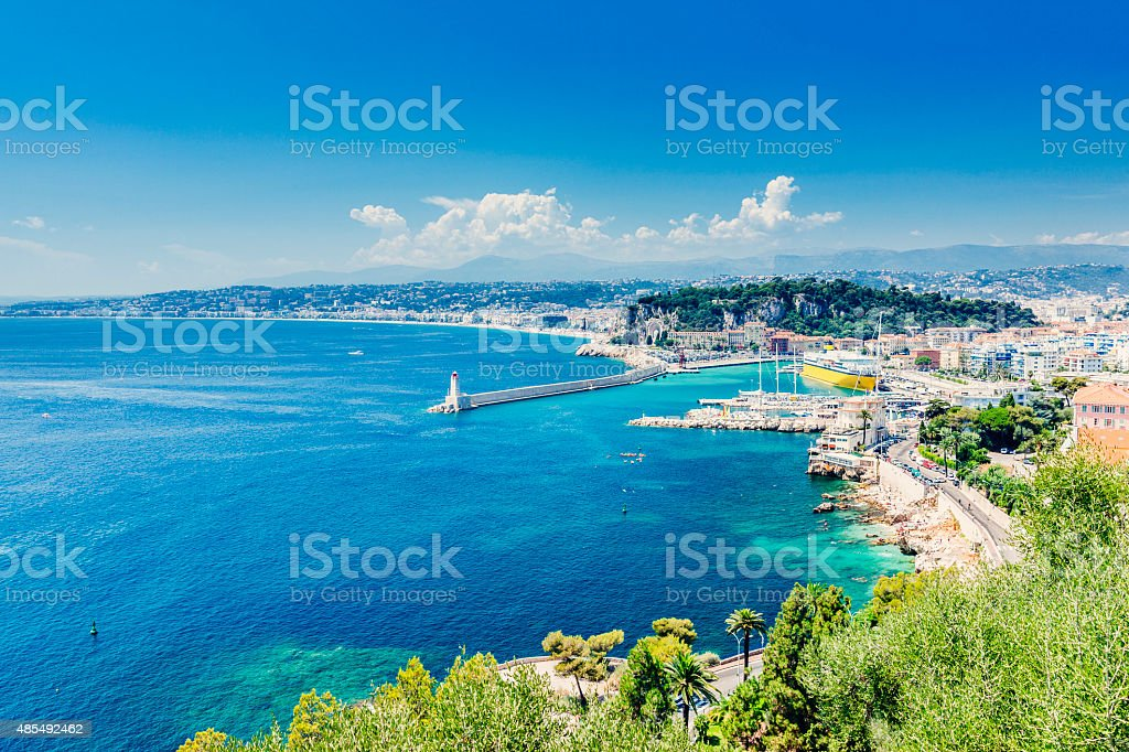 Nice harbour, France stock photo