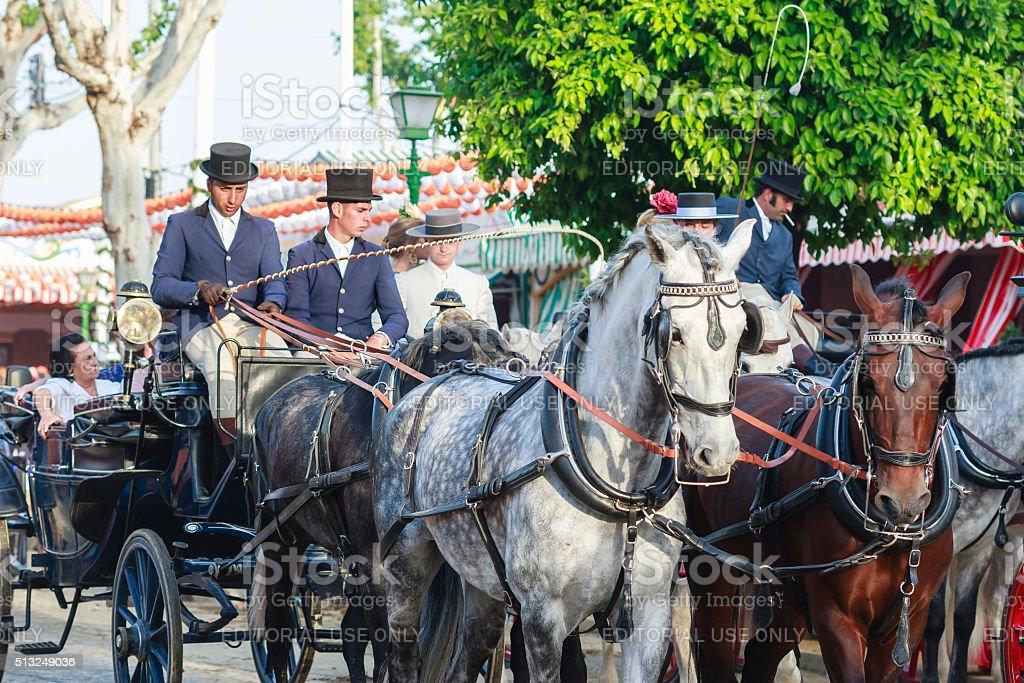 Bom carruagem na Sevilha Justo foto royalty-free