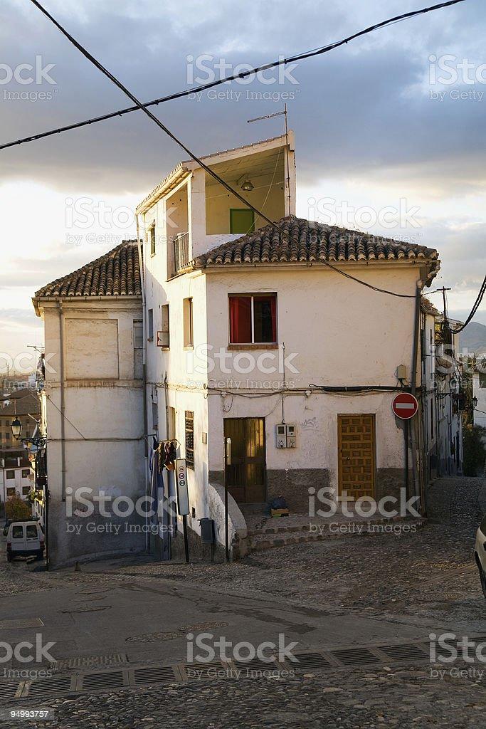 Nice house in Granada Albaicin, Andalusia, Spain. stock photo