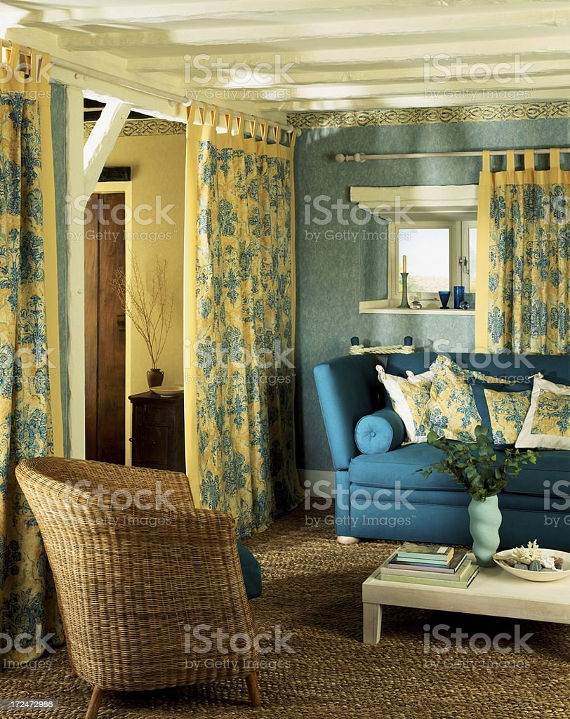 Nice interior in a small traditional home royalty-free stock photo