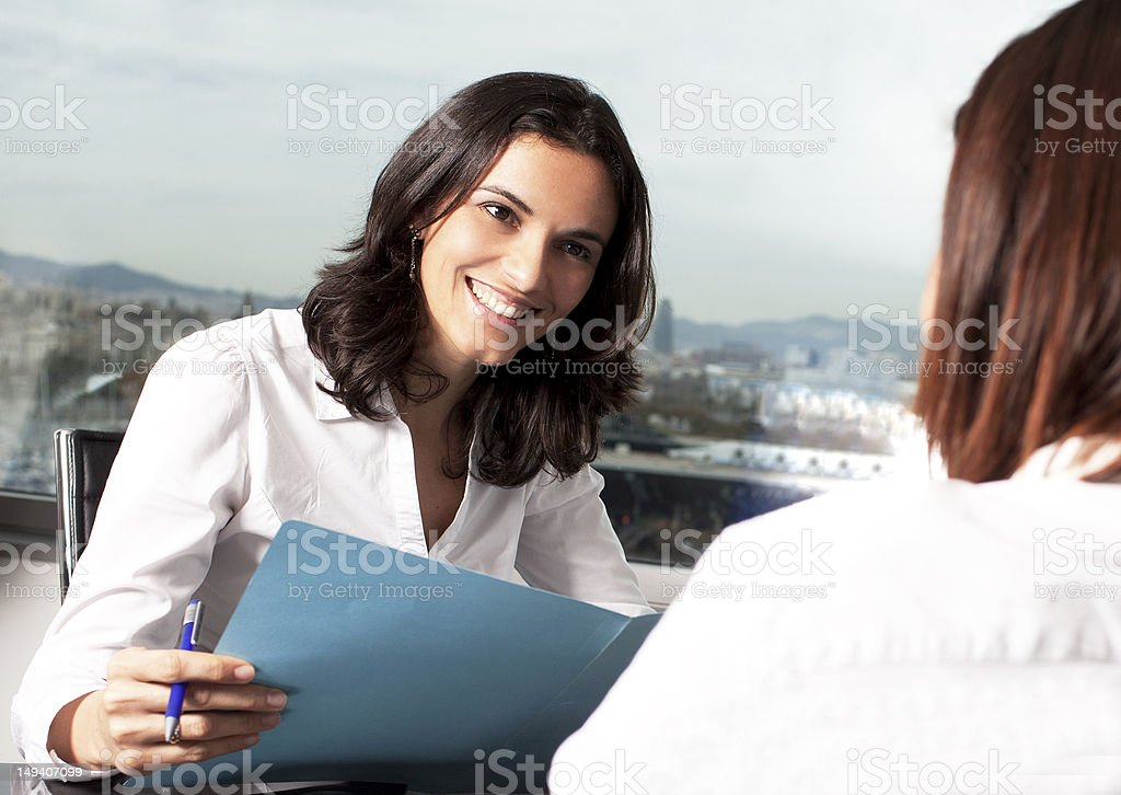 Nice job interview royalty-free stock photo