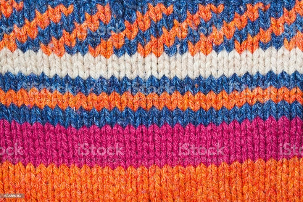 Nice knitted surface.Closeup stock photo