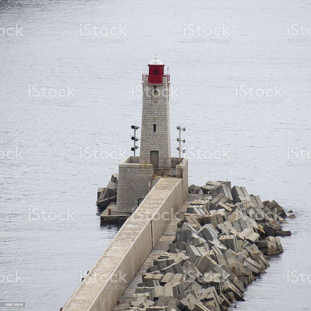 Nice - Lighthouse royalty-free stock photo
