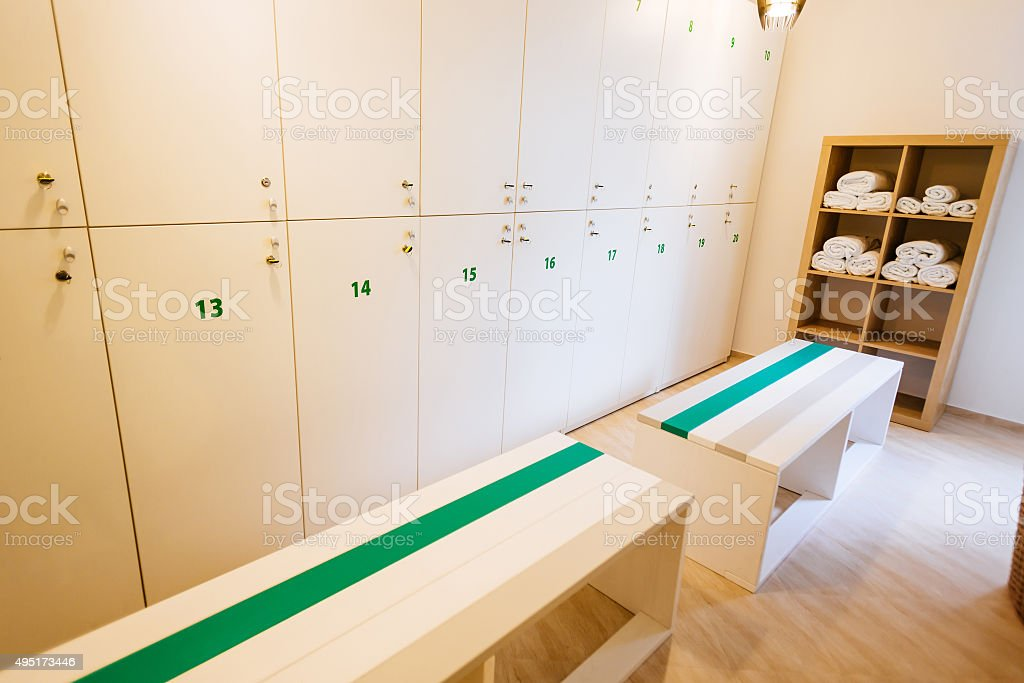 Nice locker room stock photo