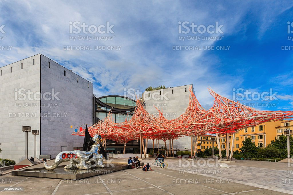 Nice, MAMAC Museum of Modern and Contemporary Art - France stock photo