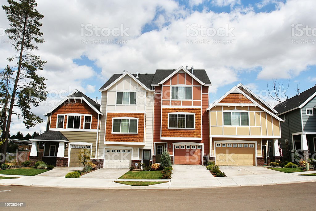 Nice New Homes stock photo