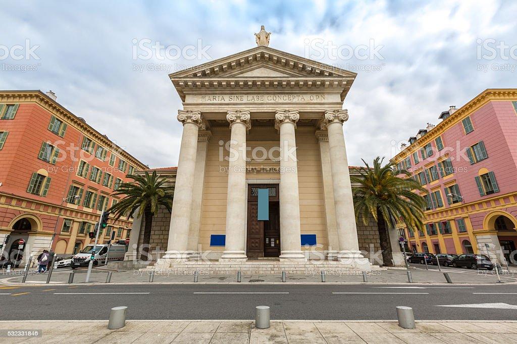 Nice Notre-Dame du Port stock photo