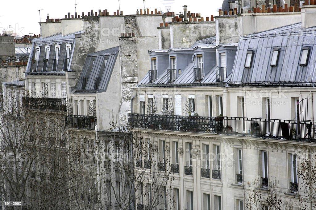 Nice Parisian Neighborhood stock photo