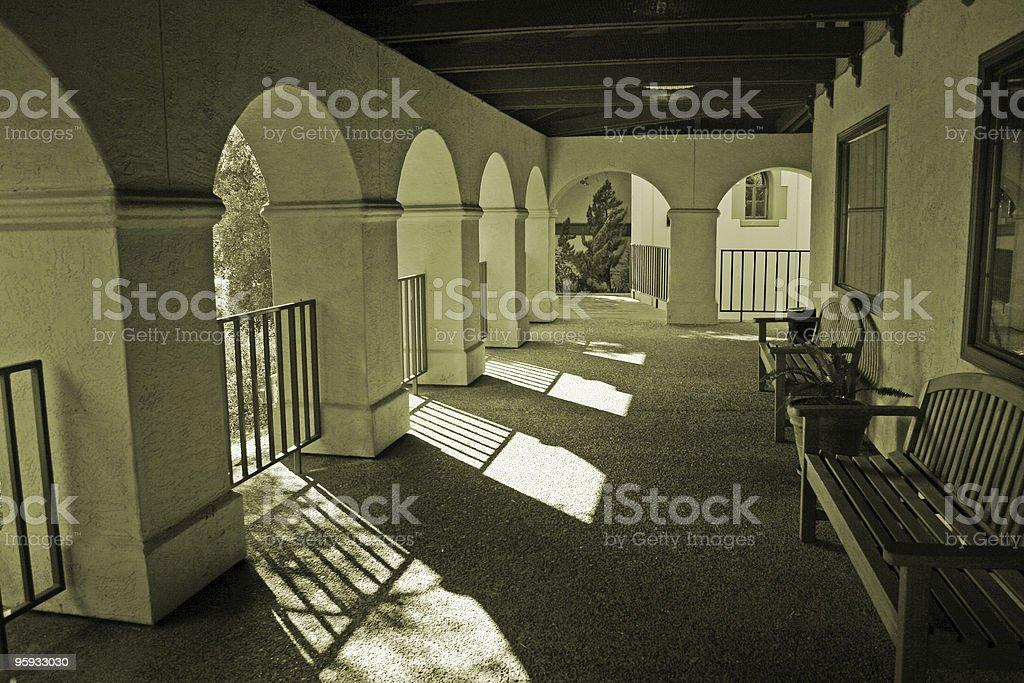 Beau porche Scène 2 photo libre de droits
