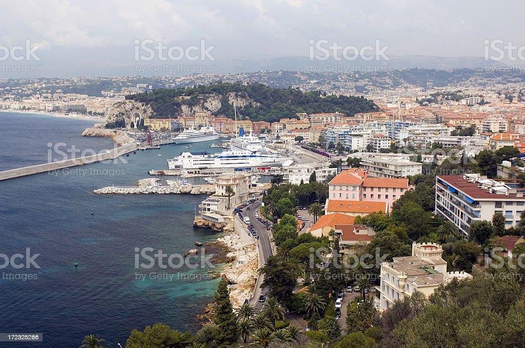 Nice - Port & City royalty-free stock photo
