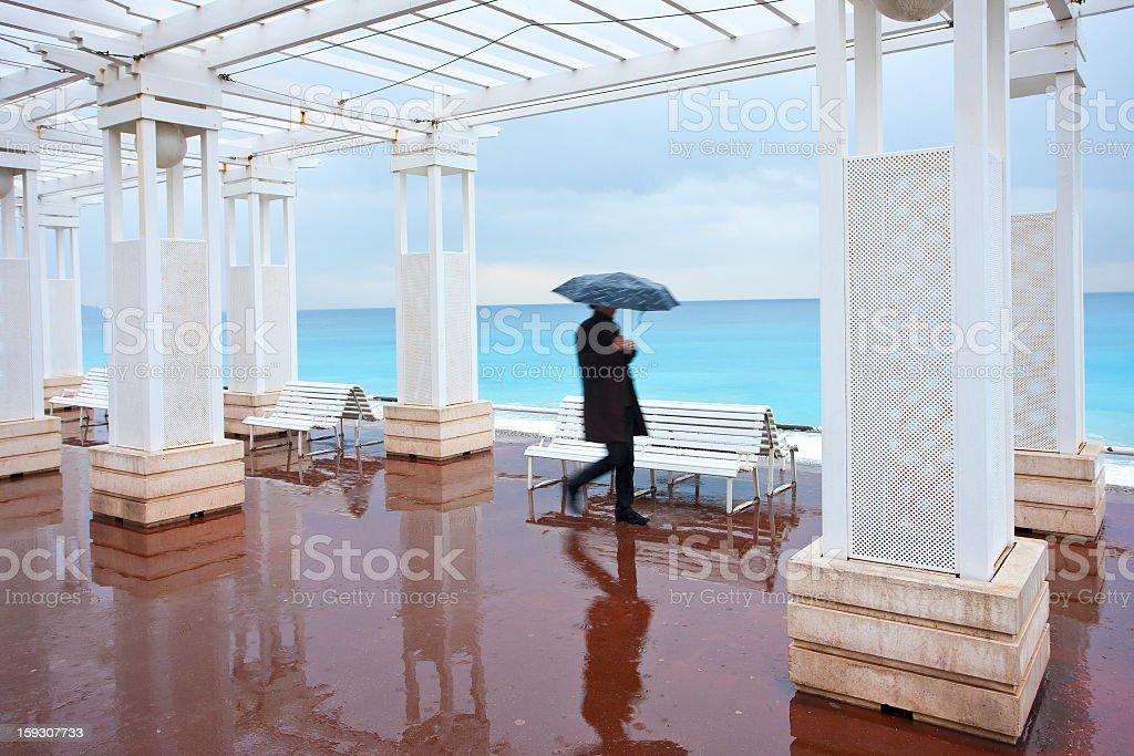 Nice promenade royalty-free stock photo