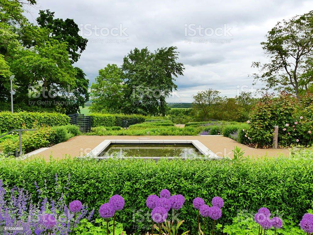 nice public garden stock photo