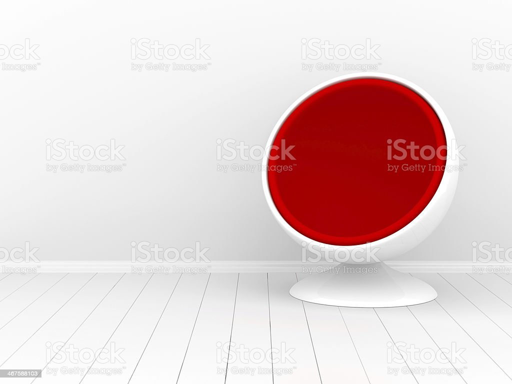 Nice room with a wall for your content stock photo