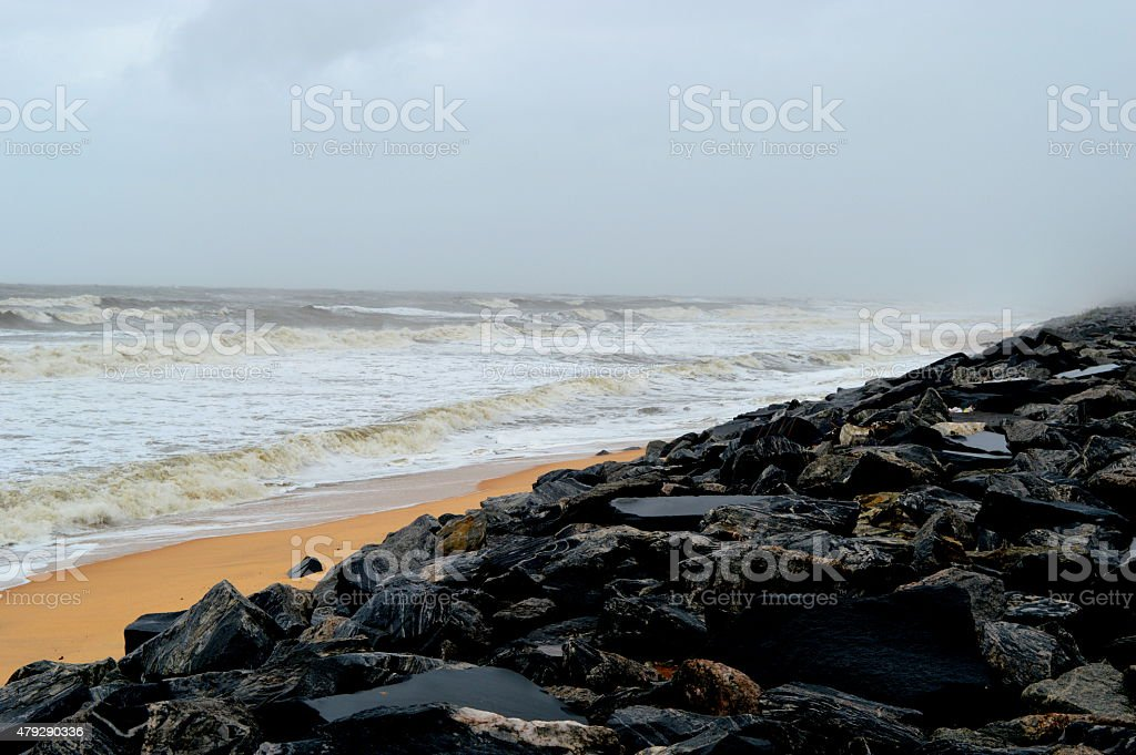 Nice Sea, Beach in India, Maravanthe stock photo