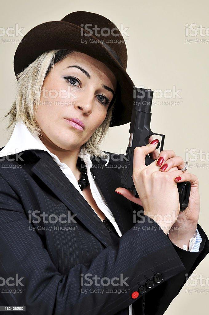 Nice secret agent royalty-free stock photo