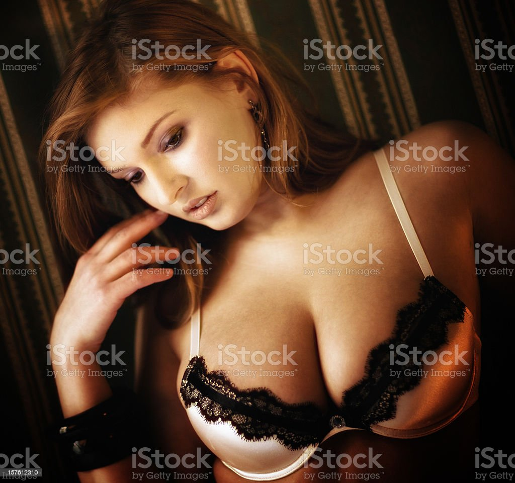Nice sexy woman in lingerie royalty-free stock photo