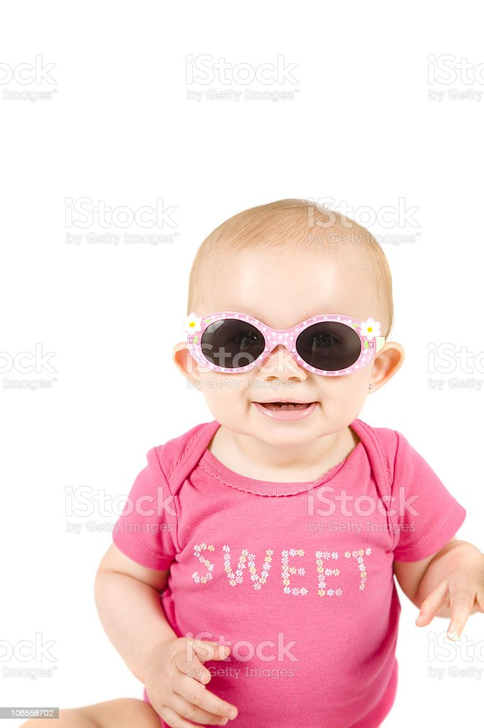 Nice Shades!, Sweet Little Girl Series royalty-free stock photo