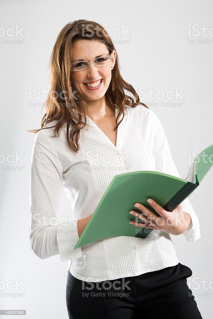 Nice smiling female secretary royalty-free stock photo