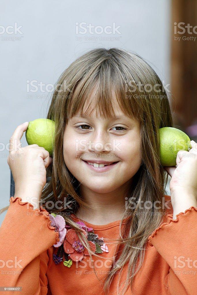Nice smiling girl stock photo
