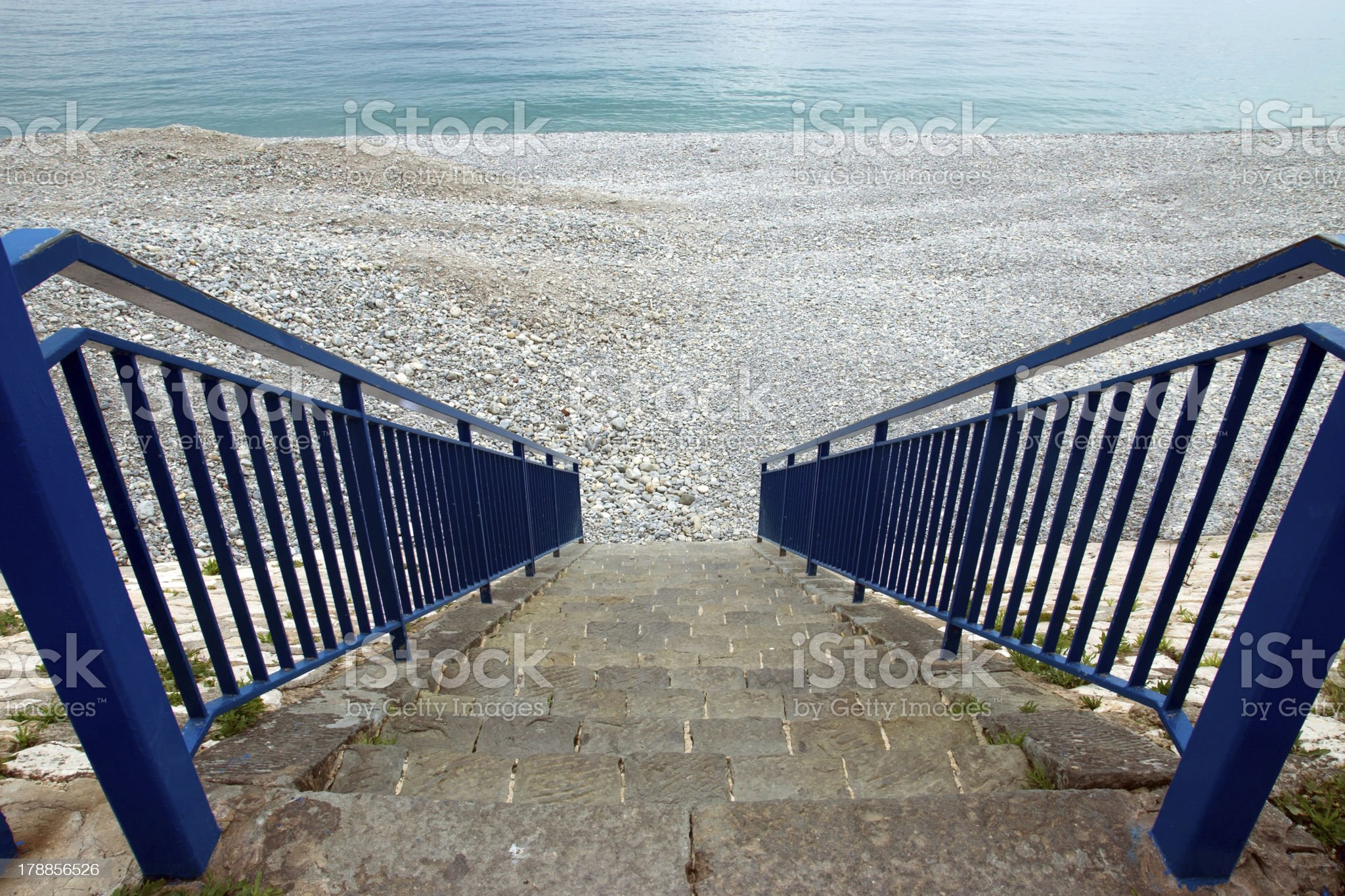 Nice - Stairs to beach royalty-free stock photo