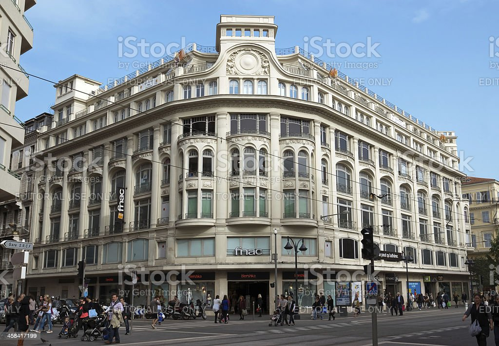 Nice - Streets and architecture of buildings royalty-free stock photo
