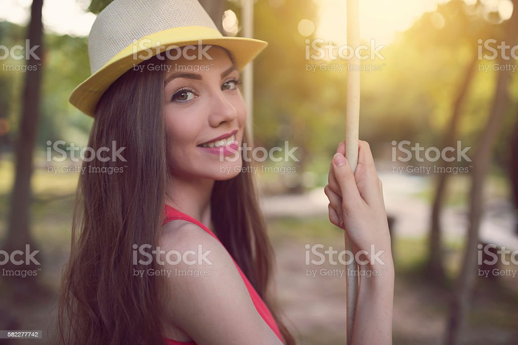 Nice summer afternoon stock photo