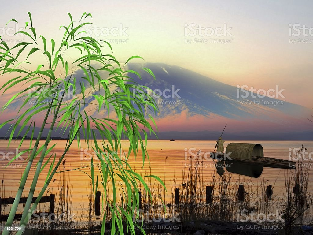 Nice sunrise with beauti landscape royalty-free stock photo