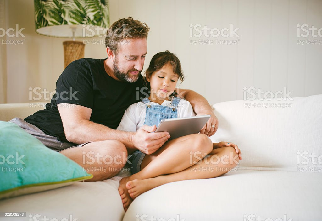 Nice time with my daughter stock photo