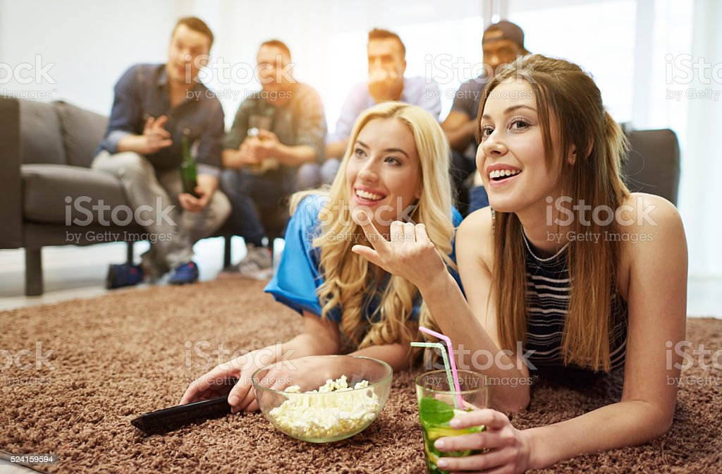 Nice time with nice people stock photo