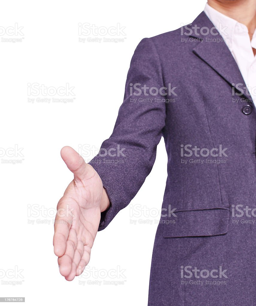 Nice to meet you royalty-free stock photo