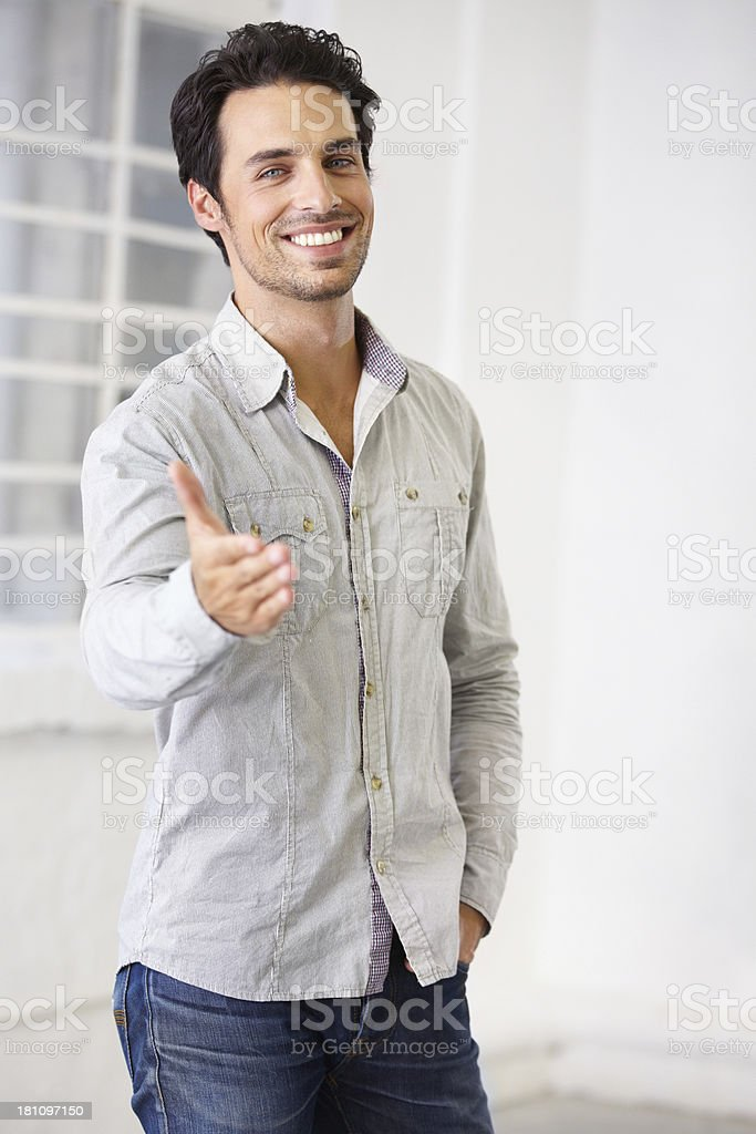 Nice to meet you! royalty-free stock photo