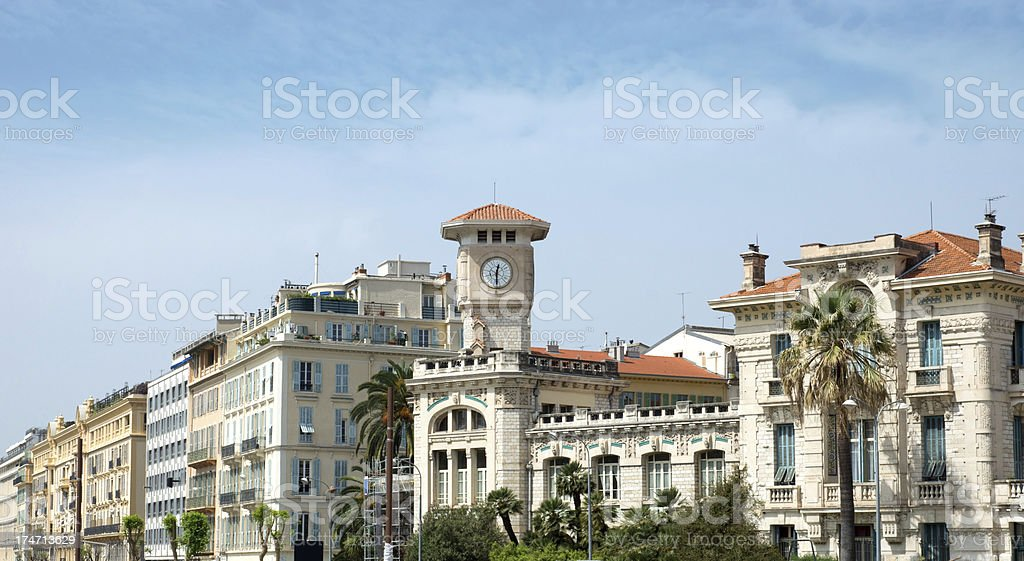 Nice - Tower clock royalty-free stock photo