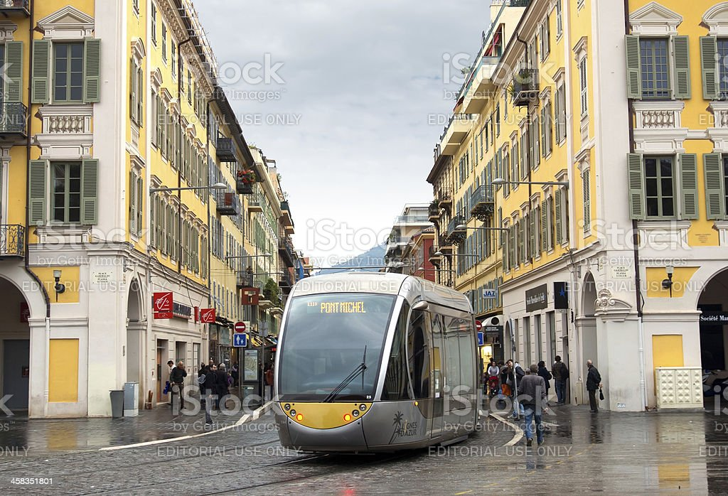 Nice - Tram in the center of city royalty-free stock photo