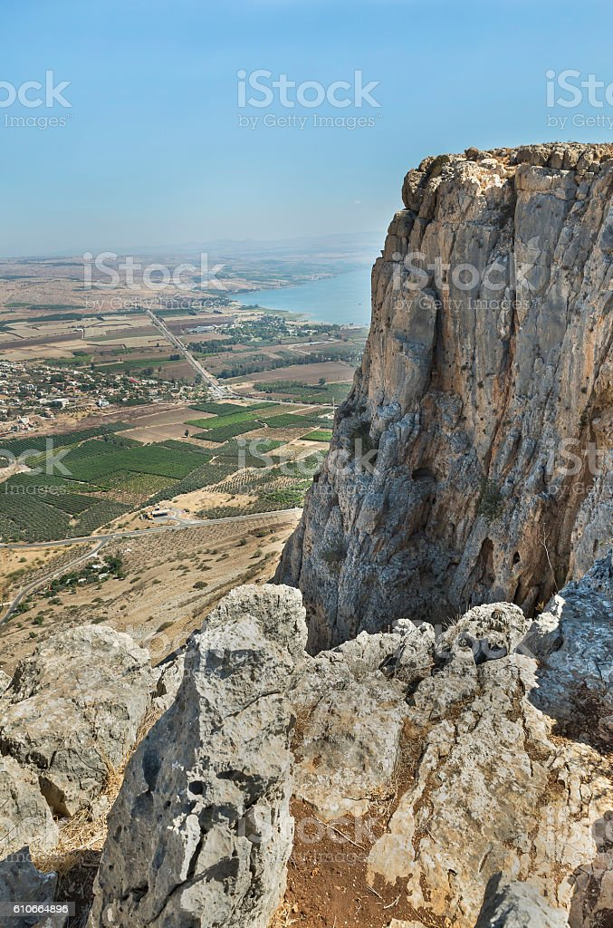 nice view from Arbel mountain stock photo