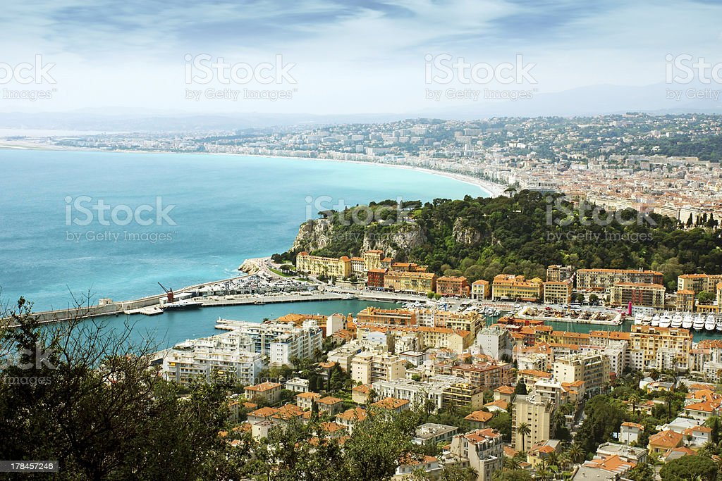 Nice - view from Fort du Mont Alban royalty-free stock photo