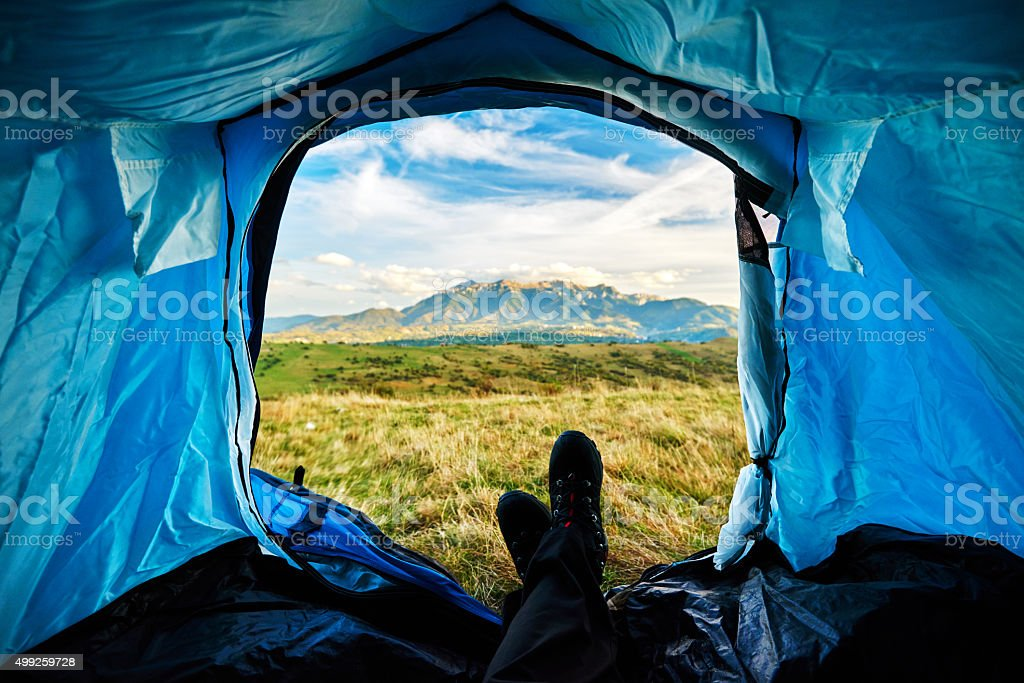nice view from my tent stock photo