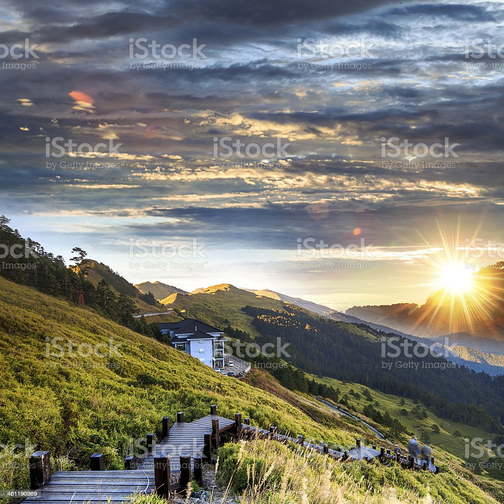 Nice view in the high mountain royalty-free stock photo