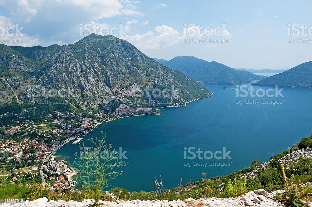 Nice view of bay, Montenegro royalty-free stock photo