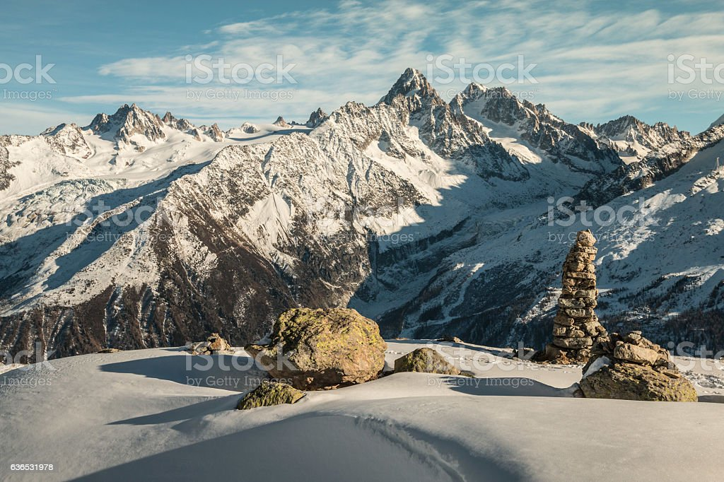 Nice view of French Alps stock photo