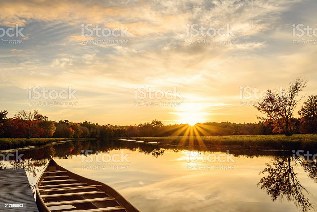 Nice view of sunset at Jakes landing stock photo