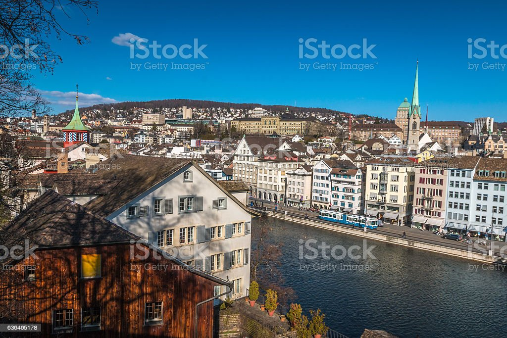 Nice view of Zurich stock photo