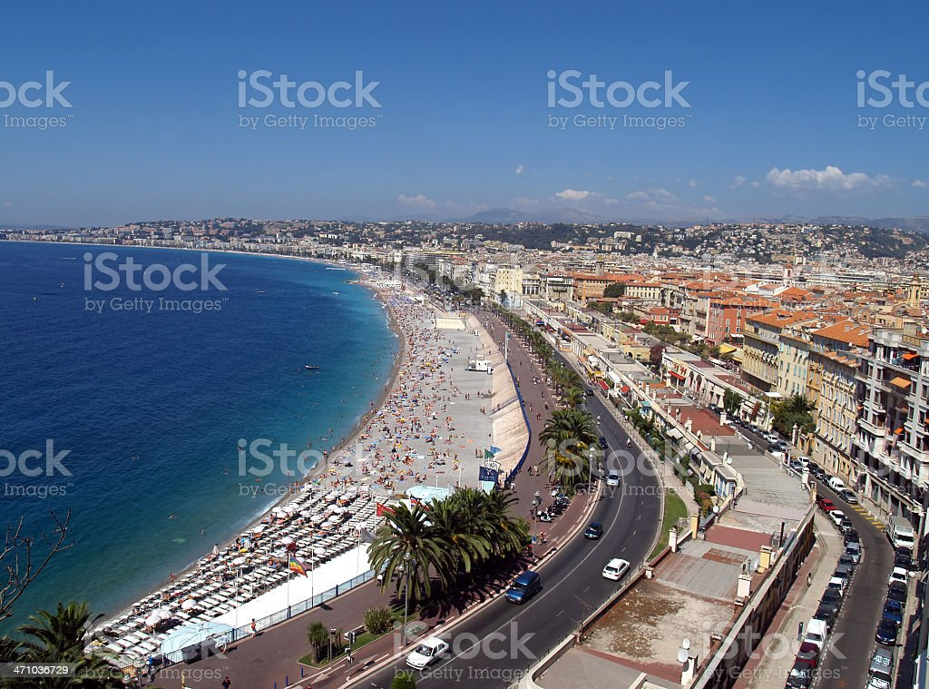 Nice. Promenade des anglais. royalty-free stock photo