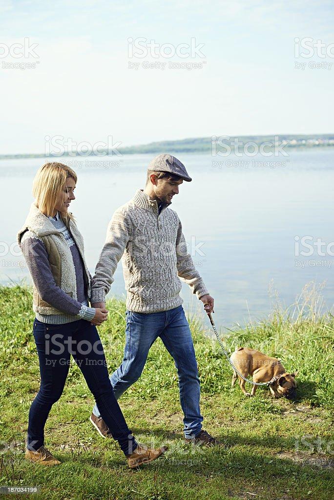 Nice walk royalty-free stock photo