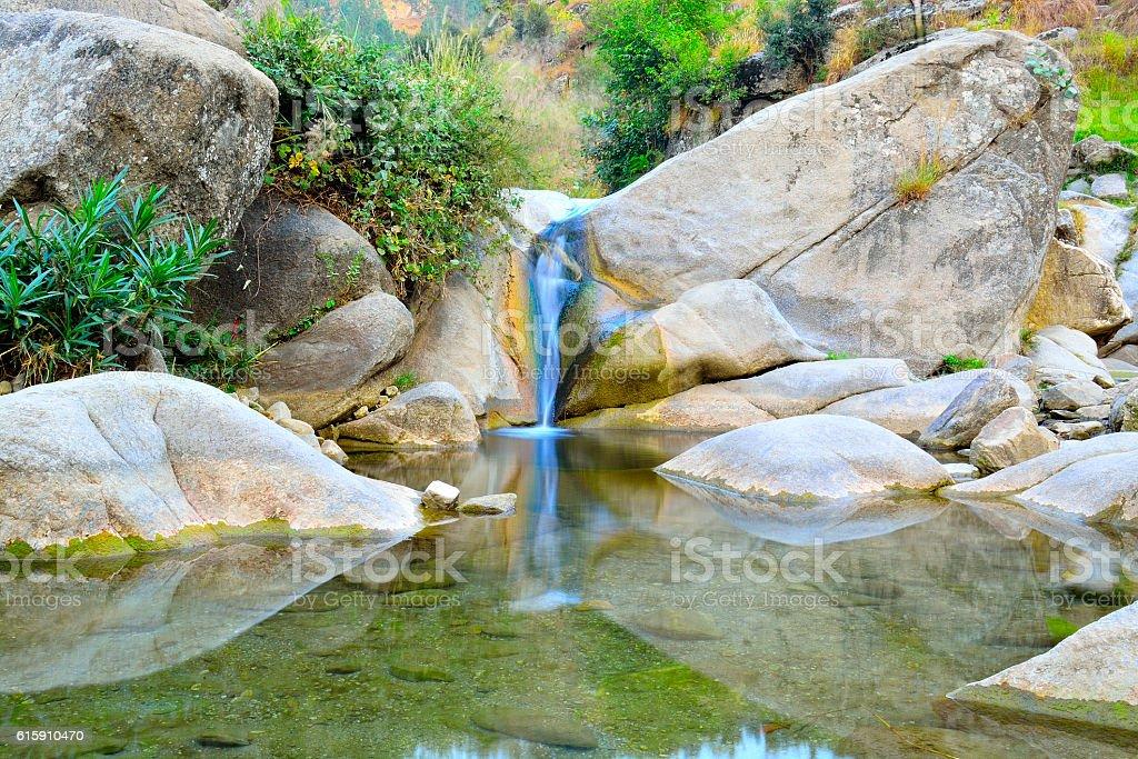 nice water fall stock photo